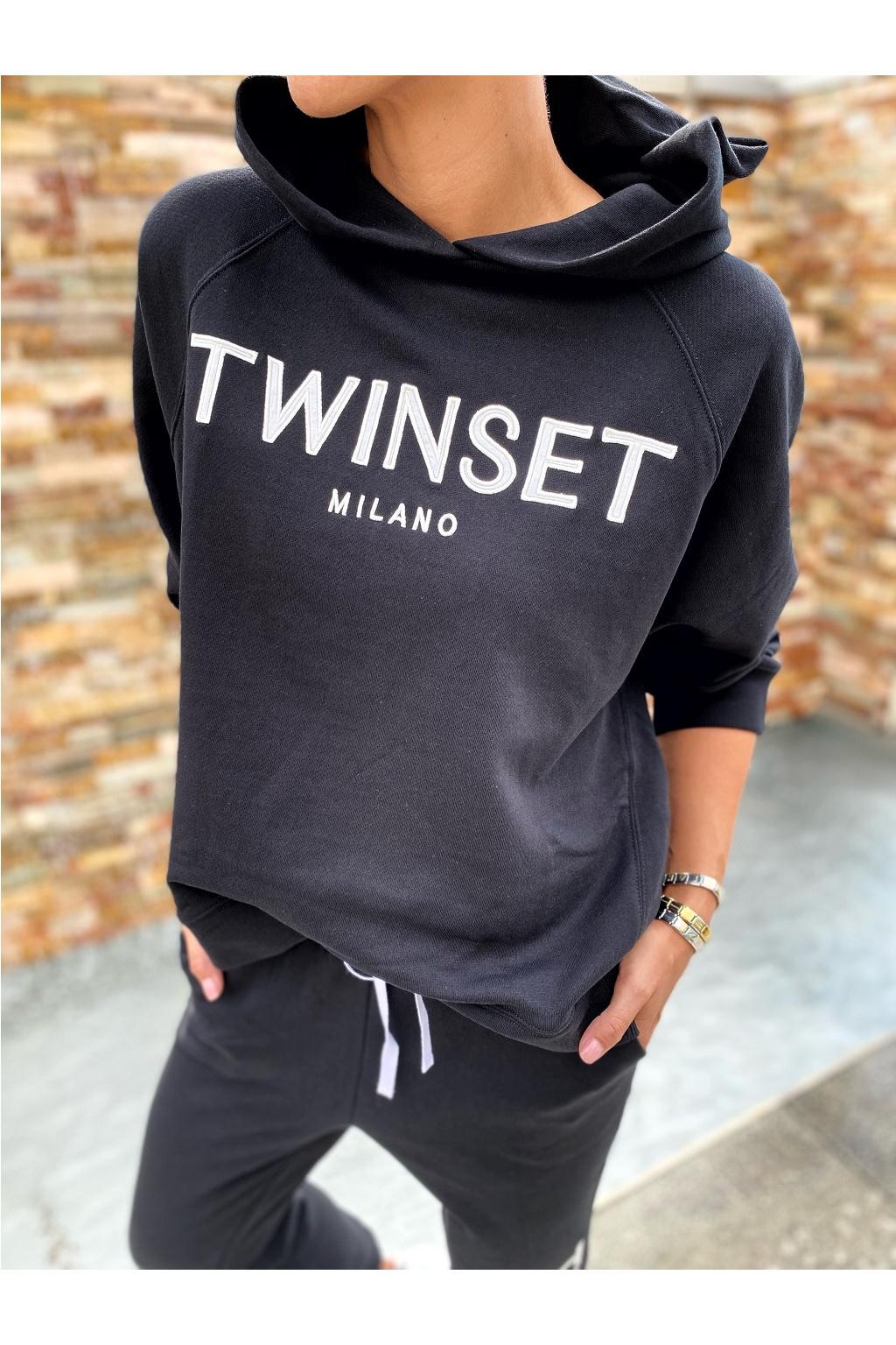 Dámská mikina Twinset 212TP2571 černá