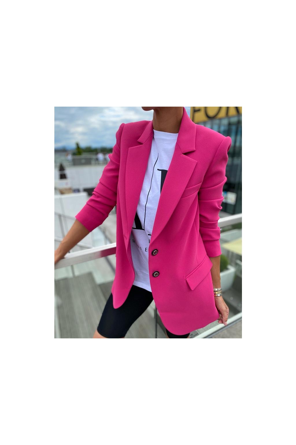 Dámské sako Pinko Biscottini 4 růžové