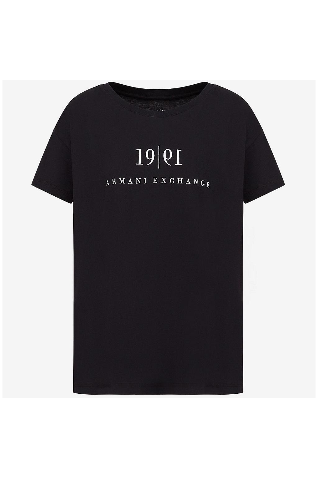 Dámské tričko Armani Echange 6KYTEE YJ6QZ černé