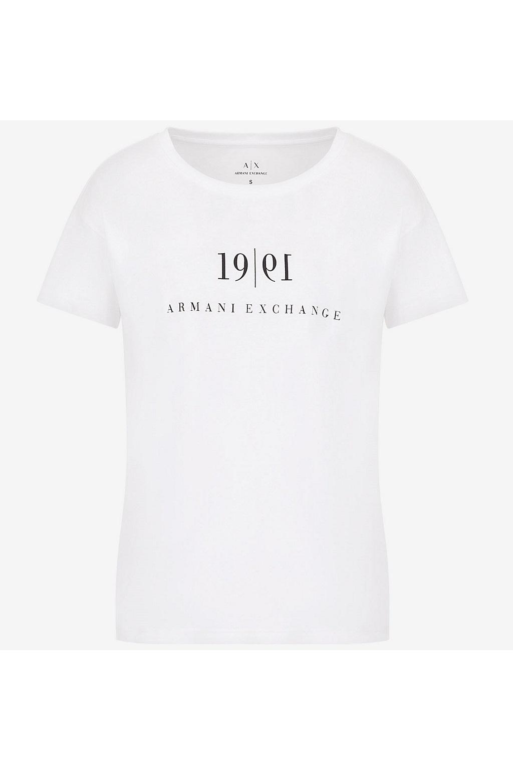 Pánské tričko Armani Exchange 6KZTAH ZJ5LZ bílé 0