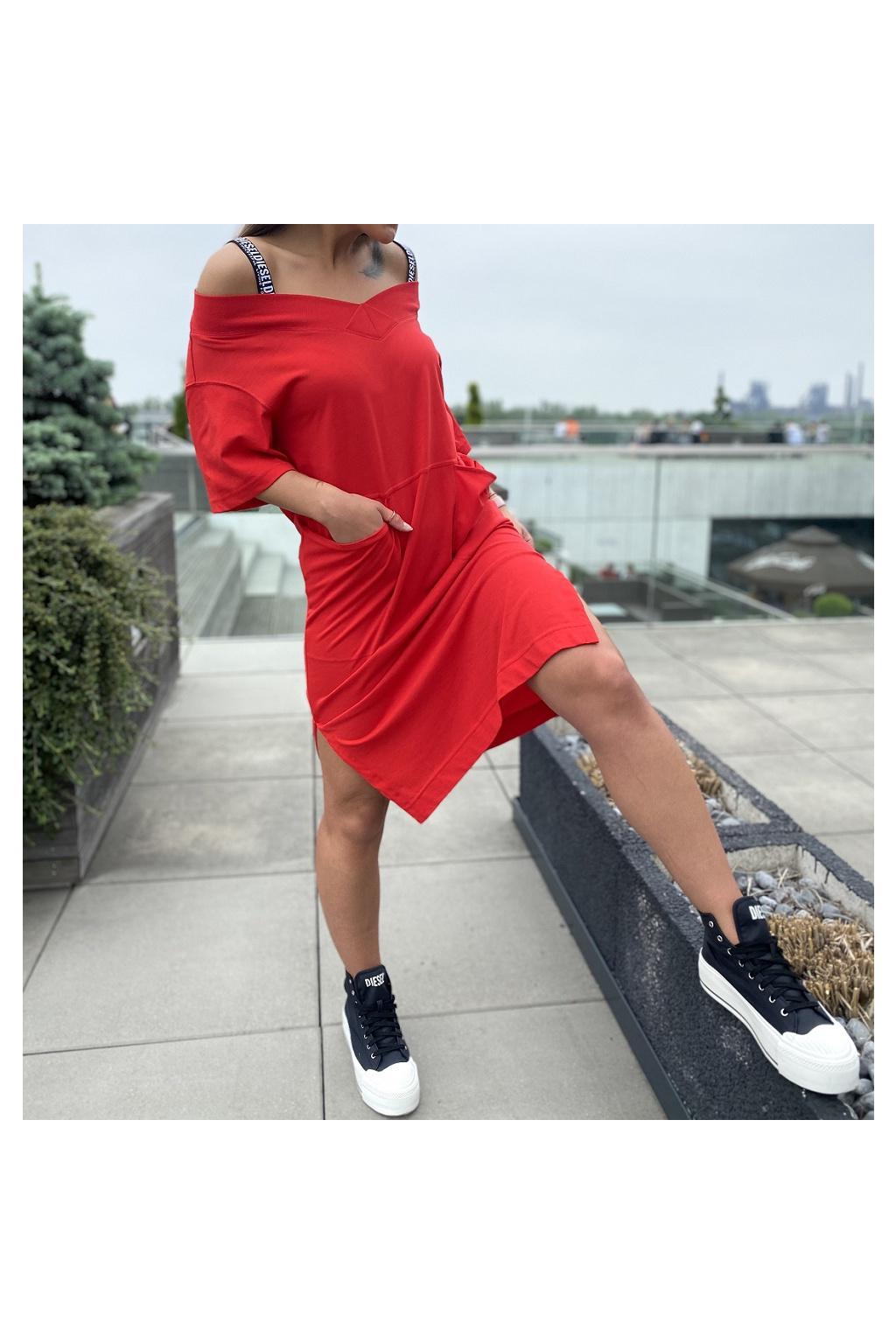 Dámské šaty Diesel D Workie červené