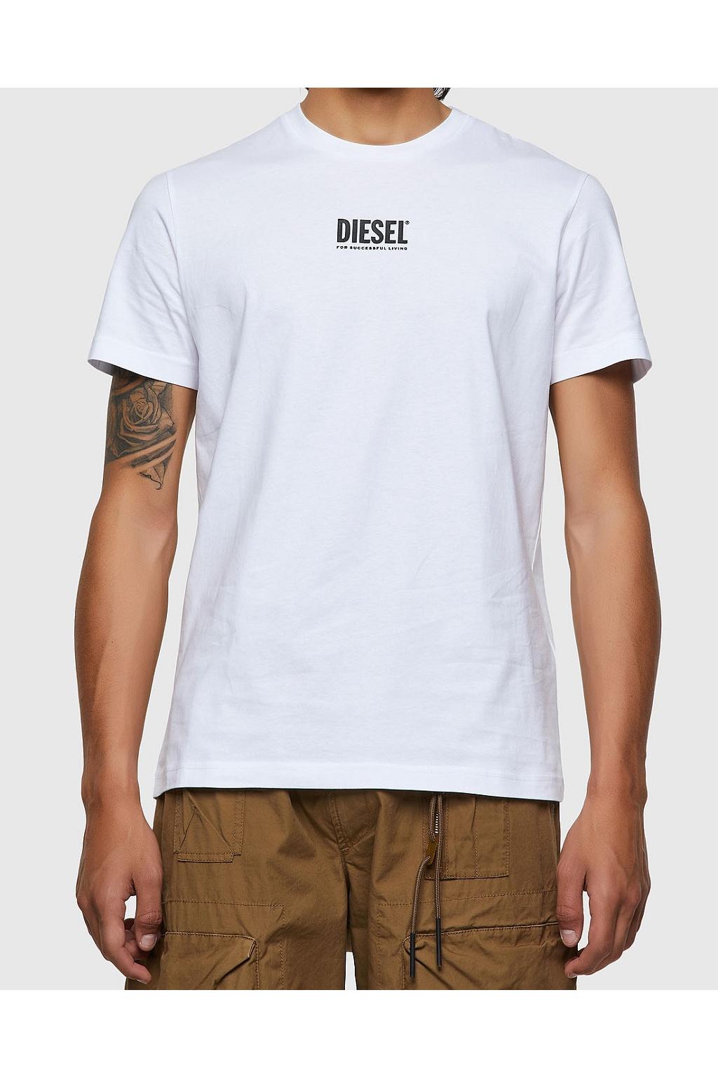Pánské tričko Diesel T Diegos Ecosmallogo bílé