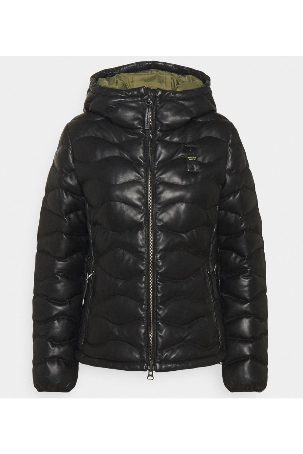 Dámská kožená bunda Blauer černá