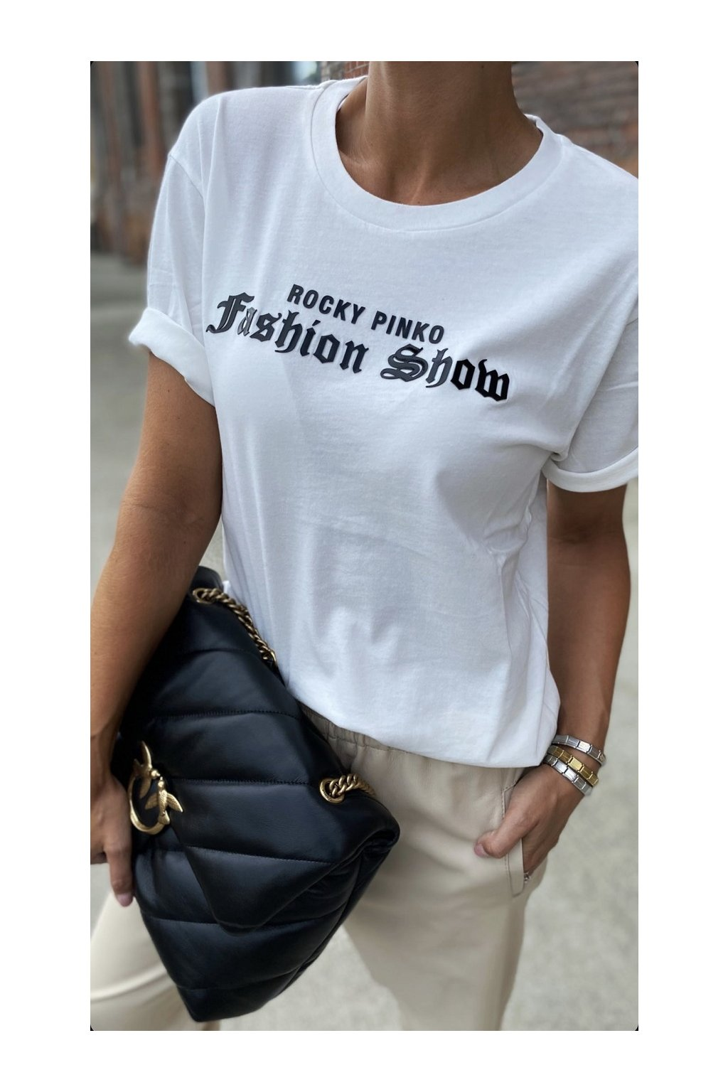 Dámské tričko Pinko Amasia bílé