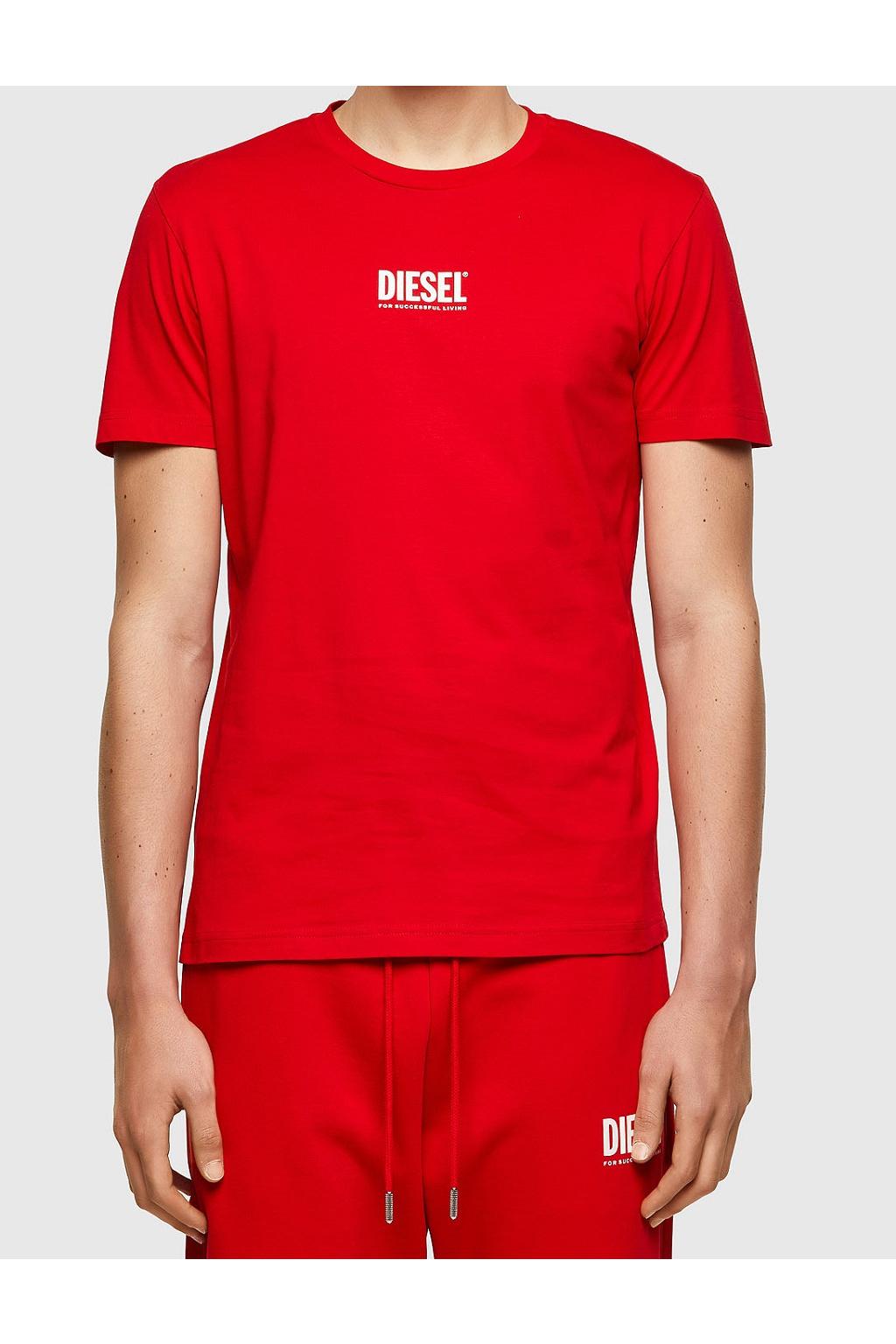 Pánské tričko Diesel T Diegos Ecosmallogo červené