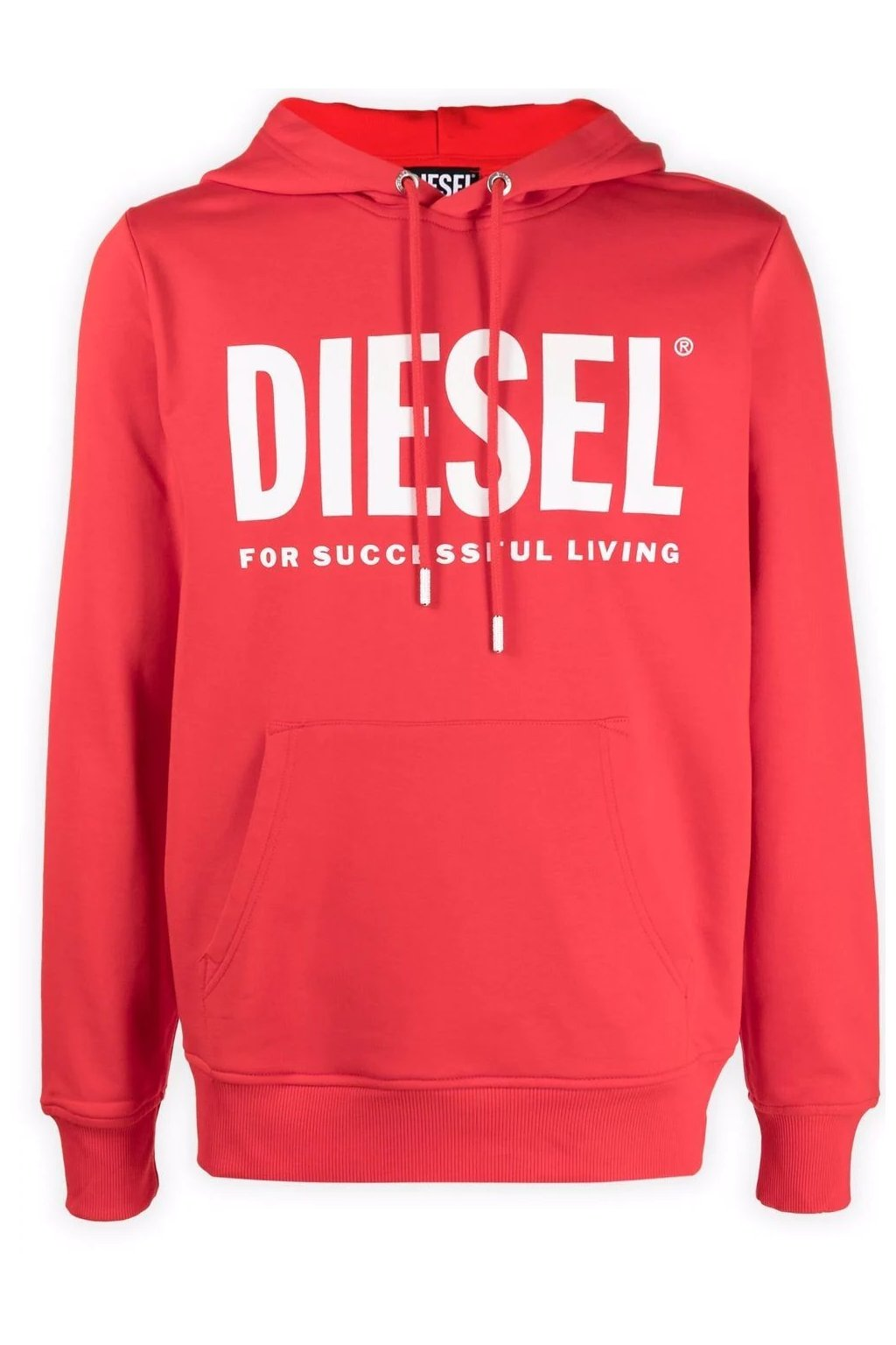 Pánská mikina Diesel S Girk Hood Ecologo červená