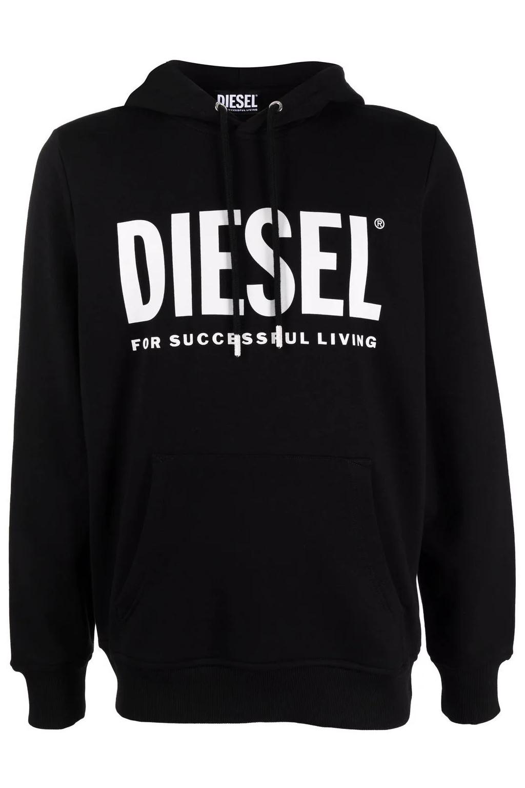 Pánská mikina Diesel S Girk Hood Ecologo černá