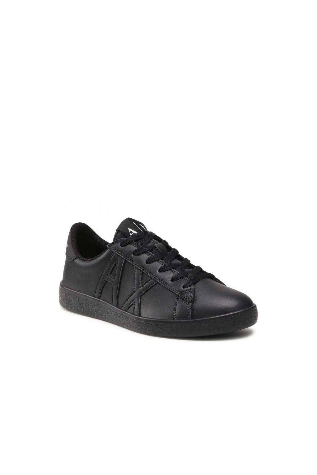 Pánské kožené tenisky Armani Exchange XUX016 XCC71 černé