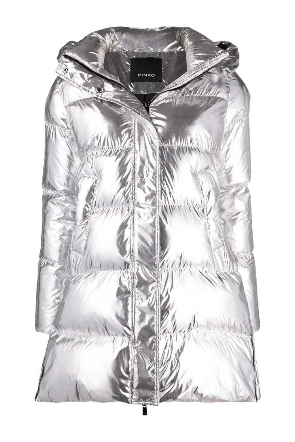 Dámská bunda Pinko Illica stříbrná