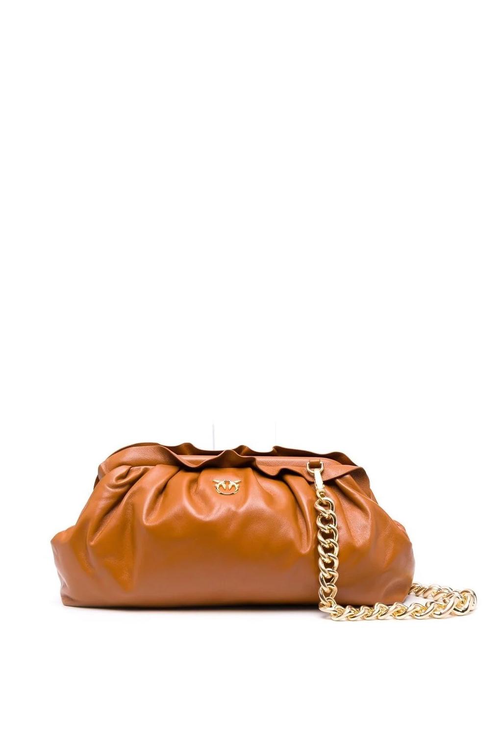 Dámská kabelka Pinko Chain Clutch Framed 1 Cl hnědá