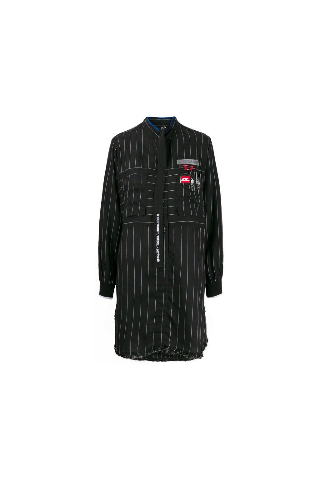 00SUP2 0EAWD Dámské šaty Diesel D Super C černé