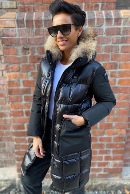 Dámská dlouhá péřová bunda Blauer 21WBLDK03095 černá
