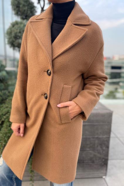 Dámský kabát Pinko 1N13AVY7XHTL35 hnědý