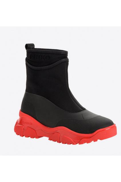 Dámská obuv Pinko Moss trek černo červená
