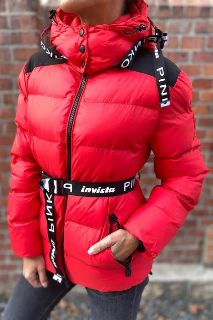 Dámská zimní bunda Pinko 1G16XKY833R22 červená