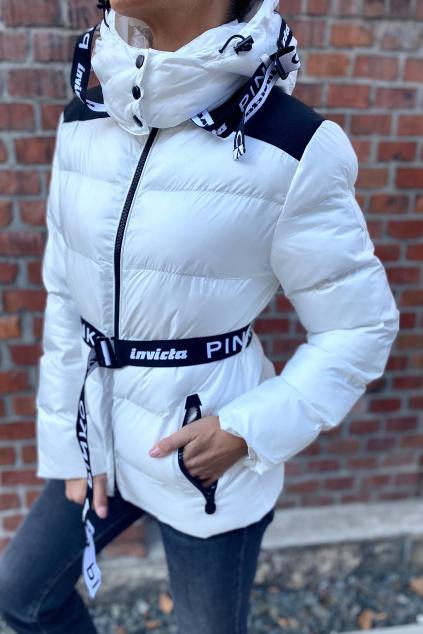 Dámská zimní bunda Pinko 1G16XKY833ZZ1 bílá
