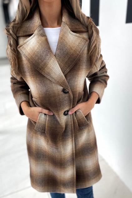 Dámský kabát Pinko 1N13B3Y7XGCLZ károvaný