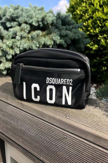 Unisex kosmetická taška Dsquared2 Icon černá
