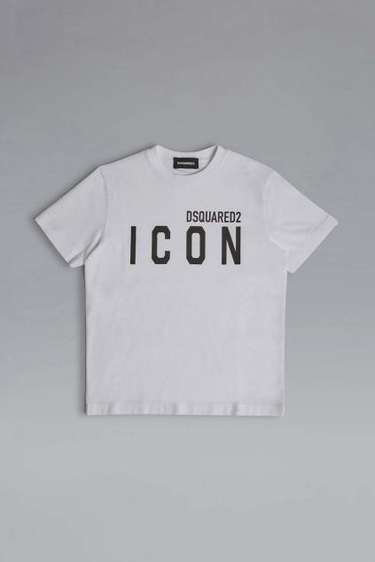 Dětské tričko Dsquared2 DQ048SD002F bílé