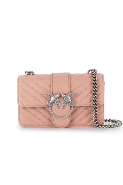 1P21K0 Y5V1 Pinko kabelka Mini Love Mix růžová