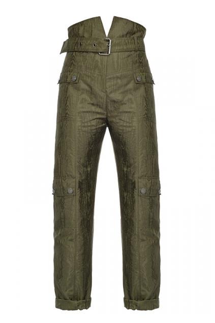 1B14D47984 X22 Dámské Pinko kalhoty Quadratino zelené