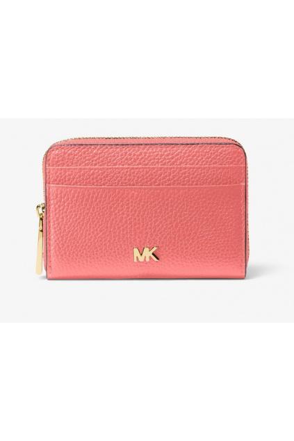 34F9GF6Z1L Dámská peněženka Michael Kors Mott Coin Card Case Leather růžová