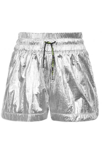 1C1073Y5YZ I17 Dámské šortky Pinko Orientare 3 stříbrné