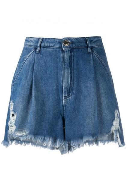 1J10EW Y5X8 Dámské šortky Pinko Ollie modré