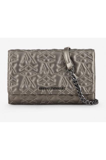 942148 0P179 Dámská peněženka Armani Exchange stříbrná