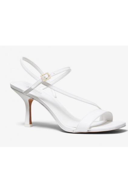 40S0TAMS1L Dámské kožené sandály Michael Kors Tasha bílé
