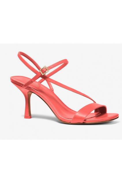 40S0TAMS1L Dámské kožené sandály Michael Kors Tasha růžové