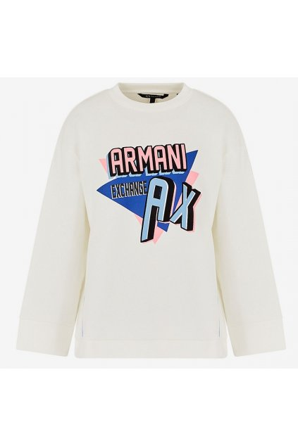 3HYM10 YJ8AZ Dámská mikina Armani Exchange bílá