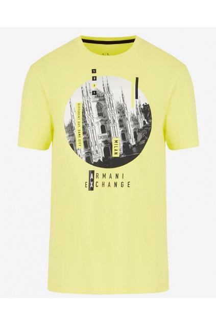 3HZTHN ZJH4Z Pánské tričko Armani Exchange žluté