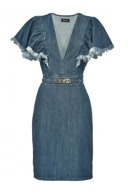 1J10E4Y63L F94 Dámská šaty Pinko Allison modré