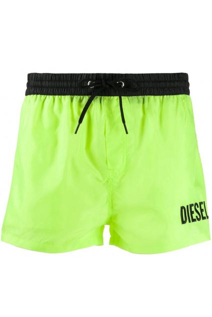 00SV9T 0PAZD Pánské plavecké kraťasy Diesel zelené