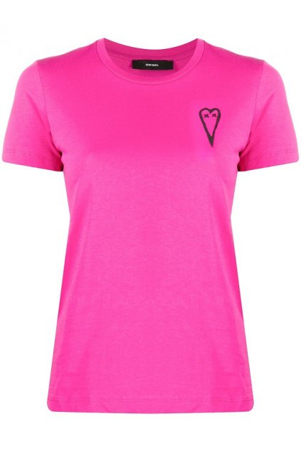 A00251 0HERA Dámské tričko Diesel T Sily růžové