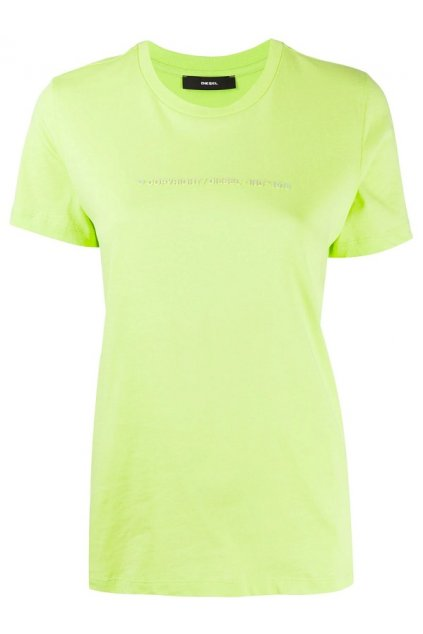 00SBGH 0HERA Dámské tričko Diesel T Sily Copy zelené