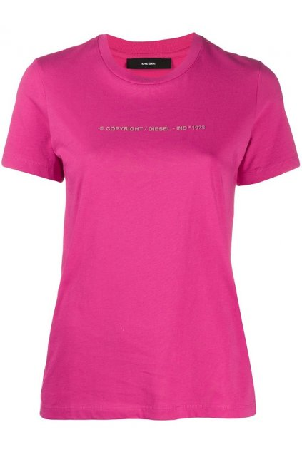 00SBGH 0HERA Dámské tričko Diesel T Sily Copy růžové