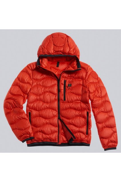 20WBLUC03099 004719 449 Pánská péřová bunda Blauer oranžová