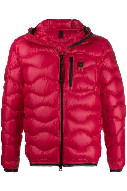 20WBLUC03099 Pánská péřová bunda Blauer červená