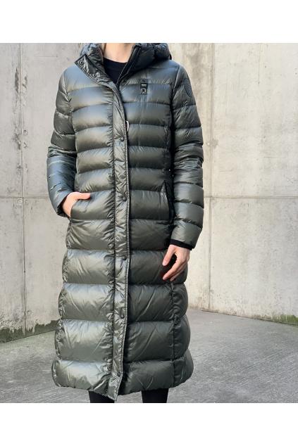 20WBLDK03399 005050 678 Dámský péřový kabát Blauer zelený