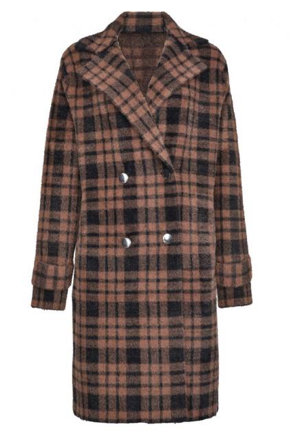 1G157ZY6CG ZM6 Dámský kabát Pinko Birmania hnědý