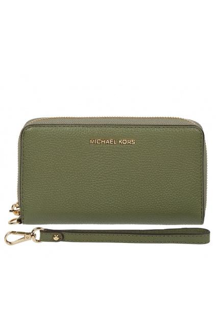 34F9GM9E9L Dámská peněženka Michael Kors Jet Set Travel Continental Leather zelená