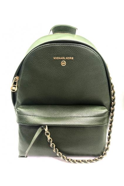 30T0S04B1L Dámský batoh Michael Kors Slater Medium Backpack Leather zelený