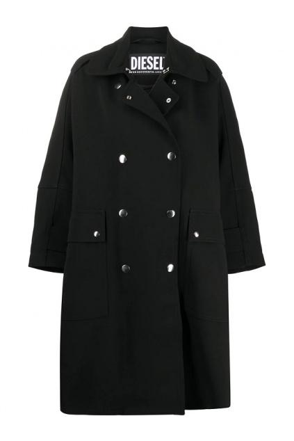 A00533 0HAZH Dámský kabát Diesel W tiller černý