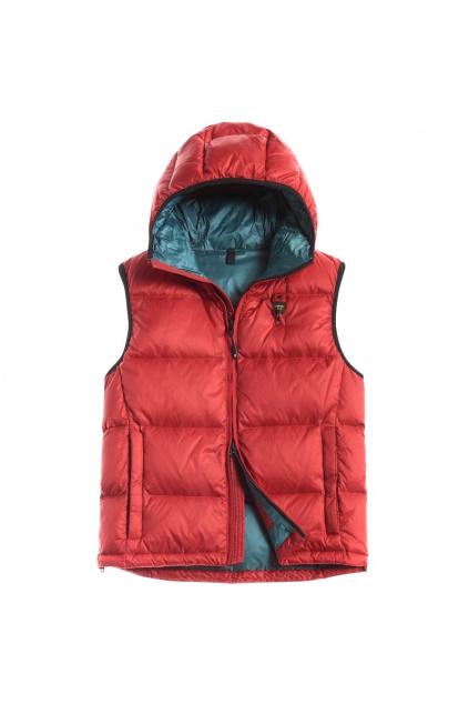 20WBLUX03098 005772 552VD Pánská vesta Blauer červená
