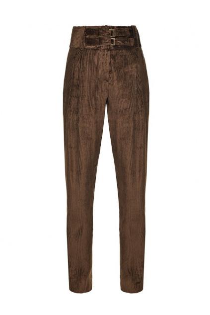 1B14P68260 L74 Dámské kalhoty Pinko Apice 1 hnědé
