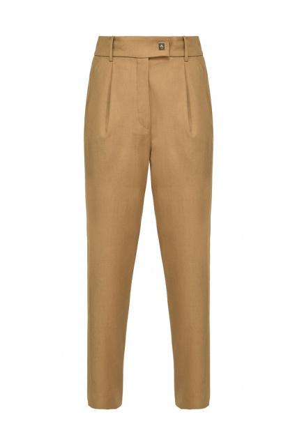 1B14NJ6116 CAM Dámské kalhoty Pinko Cefeo hnědé