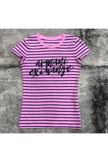 6HYTAL YJ73Z 6434 Dámské tričko Armani Exchange růžové