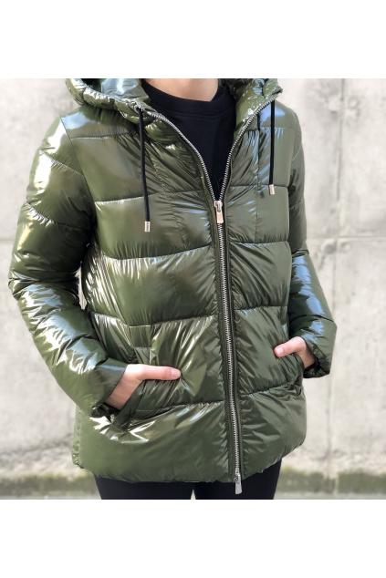 1G15L0Y6BJ X20 Dámská bunda Pinko Eleodoro zelená